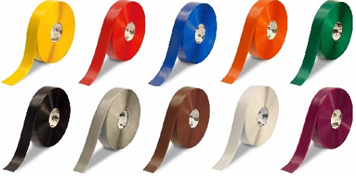 Superb ... Guaranteed Floor Marking Tape From Mighty Line. Available In Green,  Blue, White, Orange, Red, Yellow, Purple, Brown, Grey Or Black In Widths Of  1,2,3,4 ...